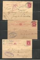 Malta. Tres Enteros Postales Circulados A España - Malta