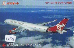 Carte Prépayée  Japon * AVION (1858) VIRGIN ATLANTIC * AIRLINES * AIRPLANE *  PREPAID CARD * JAPAN * FLUGZEUG * - Airplanes