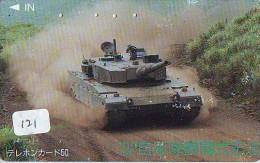 Télécarte JAPON * WAR TANK (121)  MILITAIRY LEGER ARMEE PANZER Char De Guerre * KRIEG * Phonecard Japan Army * - Armee
