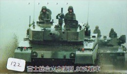 Télécarte JAPON * WAR TANK (122)  MILITAIRY LEGER ARMEE PANZER Char De Guerre * KRIEG * Phonecard Japan Army * - Armee