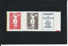 Marianne Du Bicentenaire N° 2874c Ou 7c  Issue De Carnet - Vignette Caractères Gras - Neuf Luxe - Adhesive Stamps