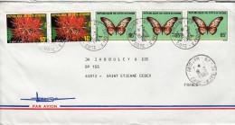1983, LETTRE COTE D'IVOIRE   Pour La FRANCE, FLEUR PAPILLON  /5465 - Ivory Coast (1960-...)