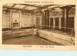 """Messageries Maritimes - """" Amaris """" 1er Classe  La Piscine - Paquebote"""