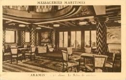 """Messageries Maritimes - """" Amaris """" 1er Classe  Le Salon De Musique - Paquebote"""