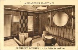 "Messageries Maritimes - "" President Doumer "" Une Cabine De Grand Luxe - Paquebote"