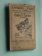 Environs De PARIS Dans Un Rayon De 120 Kilomètres / Cartes Taride Routières - 1/250.000 ( Oudere 2de Hands Kaart ) ! - Europe