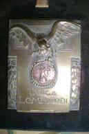 PCD/34 MEDAGLIA - TARGA LOMBARDI - Bassorilievo Liberty In Bronzo Con Aquila - Medaglia GIOCO Delle BOCCE - Bowls - Pétanque
