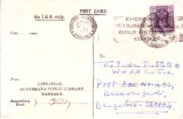 India 1976 Post Card-on India Government Service From Connemara Public Library, Bangalore With Slogan Cancellation - India