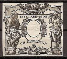 Fiscales Papel Sellado 1895 Sello 13º  0.75 - Fiscales