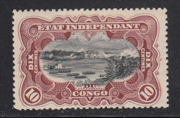 Belgian Congo MH Scott #17 10c Stanley Falls, Congo River - Album Adherence - Congo Belge