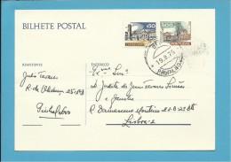 PINHAL NOVO - BILHETE INTEIRO POSTAL STATIONERY - PORTUGAL - CTT 1$00 + $50 - 2 SCANS - Enteros Postales