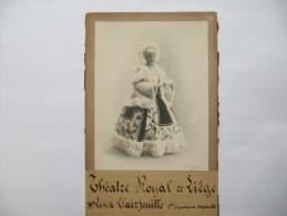 Lina CLAIRFEUILLE , Chanteuse D'Opérette Au Théatre Royal De Liège - Photo Contrecollée Sur Carton Fort