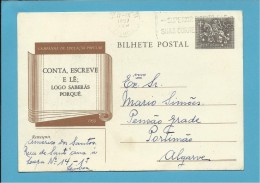 1957 - CAMPANHA De EDUCAÇÃO POPULAR - INTEIRO POSTAL STATIONERY - PORTUGAL - Entiers Postaux