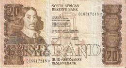 BILLETE DE SURAFRICA DE 20 RAND AÑOS 1981-85 (BANKNOTE) - Suráfrica