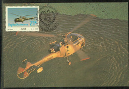 TARJETA MAXIMA AVION ALOUETTE III .- MAXIMUM CARD ALOUETTE III - Bofutatsuana