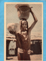 TCHAD-Fille Baguirmienne d�vetue- portant de l'eau-ann�es 20-cie navigation FABRE  - imp Nancy-�dition le Deley
