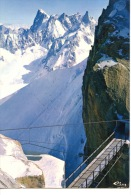 CHAMONIX Mont Blanc - Téléphérique - Passerelle - Aiguille Du Midi Et Grandes Jorasse - Chamonix-Mont-Blanc