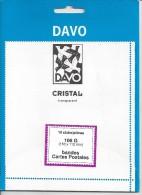 DAVO KLEMSTROKEN CRISTAL TRANSPARANT 153mm X 112mm NIEUW / NEW /NOUVEAU SUPERBE - Enveloppes Transparentes