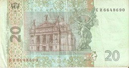 BILLETE DE UCRANIA DE 20 HRIVEN DEL AÑO 2005 (BANKNOTE) - Ucrania