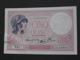 5 Francs - Cinq Francs Violet  5=10=1939  ** ETAT SPL - **  **** EN ACHAT IMMEDIAT **** - 1871-1952 Frühe Francs Des 20. Jh.