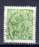 SWEDEN / SUEDE...1858...Sc N° 6...5 Ore - Usati