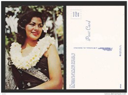 HAWAII PRETTY GIRL NATIONAL COSTUME POSTCARD - D6635 - Costumi