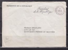 """= Enveloppe En Franchise De La Présidence De La République """" Le Président De La République"""" 28 9 1976 - Marcophilie (Lettres)"""