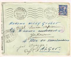 Tunisie 1940 Lettre Censuré Pour L'Alger - Storia Postale