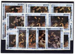 Kunst/Gemälde 1984 Kambodscha 621-5 In 4x4-Block O 2€ Detail Von Correggio Bloc Sheet From Cambodscha - Kampuchea
