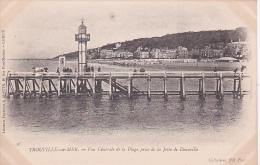 CPA Trouville-sur-Mer - Vue Générale De La Plage Prise De La Jetée De Deauville (1768) - Trouville