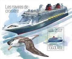 tg13804b Togo 2013 Cruise Ships Bird s/s
