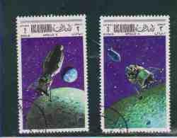 RAS AL KHAIMA.  (Y&T)  1969  -  N°17  * Série Incomplète *   Apollo X  *  2r/3r  *  Obl - Arabie Saoudite