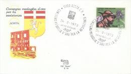 AOSTA- CONSEGNA MEDAGLIA D'ORO  PER LA RESISTENZA -  24-2- 1973 - Non Classificati