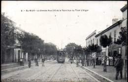 EL-BIAR (ca 1900). La Grande Rue (III) Et Le Terminus Du Tram D'Alger. Carte Editeur El-Biar - Algiers