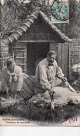 Cpa , Scens Champetres , Les Tondeurs De Moutons..joli Plan - Breeding