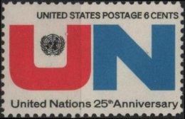 ETATS-UNIS USA  914 ** MNH Anniversaire De L´ ONU UNO O.N.U. - United States