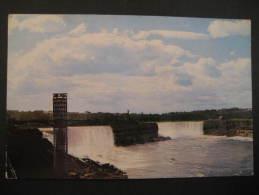 American Fall Falls Rainbow Bridge 1962 Columbus Ohio To Hannover Germany USA Post Card - Columbus