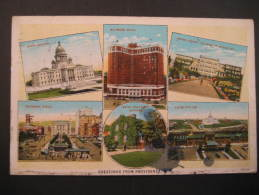 Providence Rhode Island 1930 To Barcelona Spain Espagne España USA Post Card - Providence