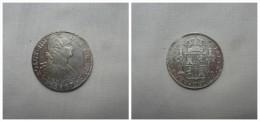 COIN SPAIN 8 REALES SILVER CARLOS IV 1807 MEXICO BC - Sin Clasificación