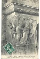 -7-VEZELAY--EGLISE DE LA MADELEINE--7e PILLIER--FACE NORD--ECRITE ET AFFR AOUT 1909-- - Vezelay