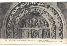 -163-VEZELAY--BASILIQUE DE LA MADELEINE--TYMPAN ET ARCHIVOLTE DE LA PORTE GAUCHE DU NARTHEX-- - Vezelay