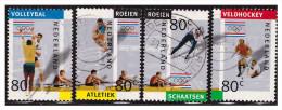 Nederland / Netherlands 1992 Catnr 1517a/d Sport Volleybal Skating Hockey Rowing Athletics Used - Zomer 1992: Barcelona