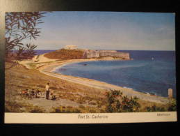 Fort St. Catherine BERMUDES BERMUDA BERMUDAS ANTILLES Post Card - Bermudes