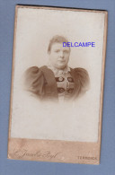 Photo Ancienne 1890 - TERMONDE , Denderstreeke - Femme Bourgeoise - Photo Jacobs Byl Rue Des Soeurs Noires - Photos