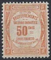 FRANCE - RARE 50 C. Valeurs Impayées  Neuf Réparé - Taxes