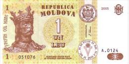 MOLDAVIE  1 Leu  Daté De 2005   Pick 8        ***** BILLET  NEUF ***** - Moldova