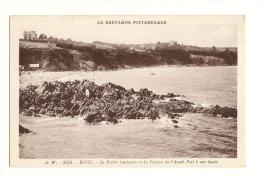 Cp, 22, Binic, Le Rocher Couturier Et Les Falaises De L´Avant-Port à Mer Haute - Binic