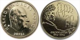 """Noruega / Norway  20 Coronas 2.014 """"Bicentenario De La Constitución De Noruega""""   SC/UNC   T-DL-10.831 - Noruega"""