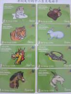 Laos Prepaid Phonecard,horoscope Set Of 12,used - Zodiaco