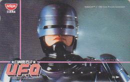 Télécarte Japon - CINEMA Film Science Fiction - ROBOCOP / UFO - Japan Movie Phonecard Space - Kino Telefonkarte - 09 - Film